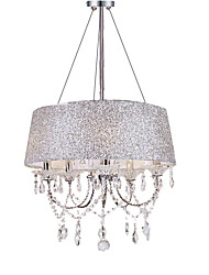 cheap -American rural Iron Chandelier concise modern crystal living room bedroom dining room chandelier Nordic cloth cover Chandelier