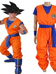 cheap -Inspired by Dragon Ball Son Goku Anime Cosplay Costumes Japanese Cosplay Suits Letter Top Pants Sash / Ribbon For Men's