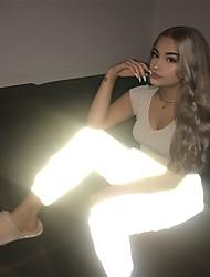 abordables -Femme Mosaïque Taille Plissée Pantalon de yoga Couleur unie Zumba Fitness Entraînement de gym Collants Tenues de Sport Bandes Réfléchissantes Butt Lift Contrôle du Ventre Power Flex Haute élasticité