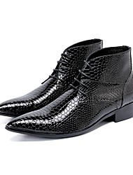 cheap -Men's Novelty Shoes Synthetics Fall & Winter Casual / British Boots Non-slipping Booties / Ankle Boots Black / Wedding / Party & Evening / Party & Evening / Dress Shoes / Fashion Boots
