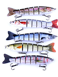 cheap -1 pcs Fishing Lures Hard Bait Wearproof Light and Convenient Easy to Use Sinking Bass Trout Pike Sea Fishing Bait Casting Spinning Plastics Carbon Steel / Carp Fishing / Lure Fishing