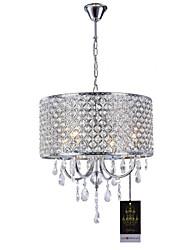 cheap -Lightinthebox 4-Light Drum Chandelier Uplight Chrome Metal Crystal 110-120V / 220-240V Warm White Bulb Not Included / E12 / E14