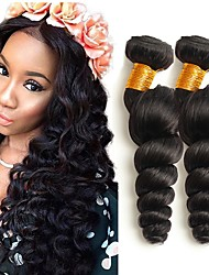 cheap -3 Bundles Malaysian Hair Loose Wave Human Hair Unprocessed Human Hair Headpiece Natural Color Hair Weaves / Hair Bulk Hair Care 8-28 inch Natural Color Human Hair Weaves New Hot Sale 100% Virgin / 8A