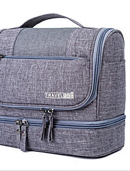 cheap -Waterproof Polyester Zipper Cosmetic Bag Daily Gray / Purple / Sky Blue / Men's
