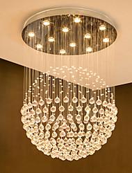cheap -12 Bulbs 80 cm Crystal / Bulb Included / Designers Chandelier Metal Crystal Electroplated Chic & Modern 110-120V / 220-240V / GU10