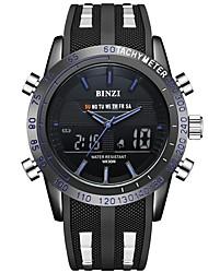 cheap -Men's Sport Watch Digital Watch Digital Silicone Black Calendar / date / day Stopwatch Casual Watch Analog - Digital Casual - Black Red Blue