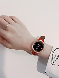 cheap -Women's Dress Watch Quartz Genuine Leather Black / Red / Grey Cute Casual Watch Analog Ladies Casual Fashion - Coffee Red Pink
