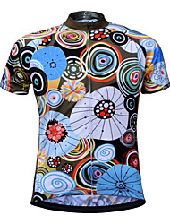 cheap -JESOCYCLING Men's Short Sleeve Cycling Jersey Bike Jersey Top Mountain Bike MTB Road Bike Cycling UV Resistant Breathable Quick Dry Sports 100% Polyester Clothing Apparel / Stretchy / Back Pocket