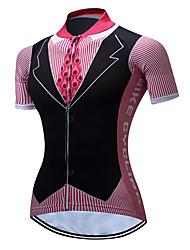 Недорогие -TELEYI Жен. С короткими рукавами Велокофты Розовый Большие размеры Велоспорт Джерси Верхняя часть Дышащий Влагоотводящие Быстровысыхающий Виды спорта Полиэстер Горные велосипеды Шоссейные велосипеды