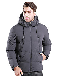 cheap -Men's Padded Hiking jacket Winter Outdoor Thermal / Warm Windproof UV Resistant Breathable Down Jacket Top Single Slider Camping / Hiking Casual Outdoor Exercise Black / Blue / Grey
