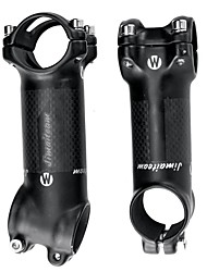 cheap -31.8 mm Bike Stem 17 degree 80/90/10/110 mm Carbon Fiber Aluminium Alloy Lightweight High Strength Easy to Install for Cycling Bicycle 3K Matt