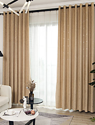 cheap -Modern Blackout Curtains Drapes Two Panels Curtain / Jacquard / Bedroom