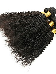 cheap -6 Bundles Brazilian Hair Kinky Curly Human Hair Unprocessed Human Hair Headpiece Natural Color Hair Weaves / Hair Bulk Hair Care 8-28 inch Natural Color Human Hair Weaves Silky Classic Fashion Human
