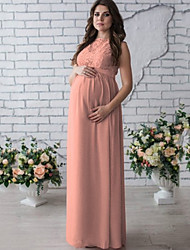 cheap -Women's Maternity Daily Elegant Maxi Sheath Dress - Solid Colored White Blushing Pink Wine L XL XXL