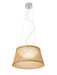 cheap -1-Light UMEI™ 40 cm Creative / Adjustable / New Design Pendant Light Wood / Bamboo Wood / Bamboo Bowl / Lantern / Novelty Electroplated Rustic / Lodge / Retro 110-120V / 220-240V