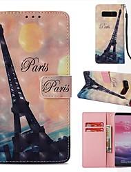 Недорогие -Кейс для Назначение SSamsung Galaxy Note 8 Кошелек / Бумажник для карт / Флип Чехол Эйфелева башня Твердый Кожа PU