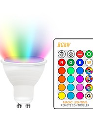 cheap -1 set 5 W LED Spotlight 400-450 lm GU10 E26 / E27 2 LED Beads COB Dimmable Decorative Color Gradient RGBW 85-265 V / RoHS