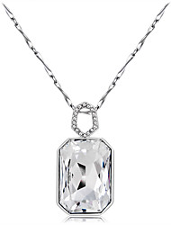 cheap -Women's Clear Crystal Pendant Necklace Solitaire Simulated Gypsophila Luxury Romantic Fashion Silver Plated Imitation Diamond Alloy Silver 70 cm Necklace Jewelry 1pc For Gift Evening Party