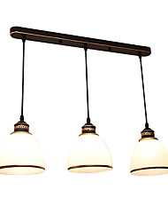 Недорогие -3-Light 57cm Конструкторы Подвесные лампы Металл Стекло Прочее Винтаж 110-120Вольт / 220-240Вольт