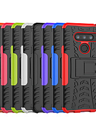 cheap -Case For LG LG X Power3 / LG V40 / LG V30 Shockproof / with Stand Back Cover Tile / Armor Hard PC