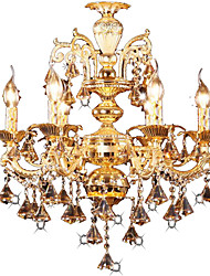 cheap -1-Light 60 cm Crystal / LED Chandelier Metal Electroplated Modern Contemporary 110-120V / 220-240V