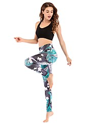 cheap -Women's High Rise Jogger Pants Yoga Pants Track Pants Sports Pants Floral / Botanical Zumba Running Gym Workout Tights Bottoms Activewear Soft Butt Lift Tummy Control Power Flex Stretchy Skinny