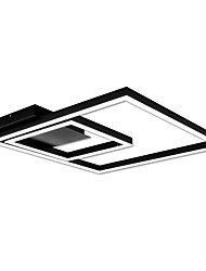 cheap -Linear Geometric Flush Mount Ambient Light Painted Finishes Metal Acrylic Dimmable, LED 90-240V Warm White / White LED Light Source Included / LED Integrated