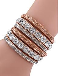 abordables -Femme Mode Alliage Diamant Festival - Bloc de Couleur / bracelet