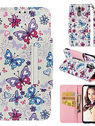 cheap -Case For Huawei Huawei Mate 20 lite Wallet / Card Holder / Flip Back Cover Butterfly Hard PU Leather