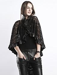 cheap -Plague Doctor Steampunk Cloak Masquerade Men's Women's Costume Black Vintage Cosplay / Shawl / Shawl