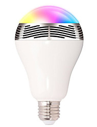 cheap -1pc Smart RGB Bulb Bluetooth 4.0 Audio Speakers Lamp Dimmable E27 LED Wireless Music Bulb Light Color Changing via WiFi App Control