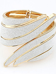cheap -Bracelet Bangles Wide Bangle Hollow cuff Statement Ladies Vintage Party Open Alloy Bracelet Jewelry Rainbow / White / Rainbow For Christmas Gifts