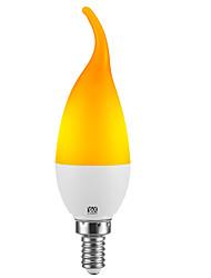 cheap -YWXLight® 1PC 2W 100-200LM LED Home Lighting Simulation Flame Light Home Decoration Flame Candle Light 85-265V