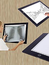 abordables -basekey A5 ultra mince conduit pad traçage boîte à lumière de tatouage carte de pochoir lightbox