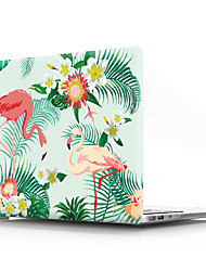 cheap -MacBook Case Cartoon Animals Flamingo PVC for Macbook Air Pro Retina 11 12 13 15 Laptop Cover Case for Macbook New Pro 13.3 15 inch with Touch Bar