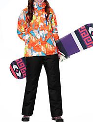 cheap -MARSNOW® Women's Ski Jacket with Pants Winter Sports Waterproof Windproof Warm 100% Cotton Chenille Clothing Suit Ski Wear