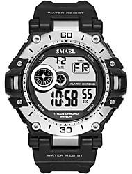 cheap -Men's Sport Watch Digital Watch Digital Rubber Black / Blue / Red Water Resistant / Waterproof Shock Resistant Noctilucent Digital Casual Fashion - Green Blue Khaki / Large Dial
