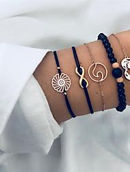 cheap -Men's Women's Hollow Out Handmade Link Bracelet - Heart, Infinity Unique Design, Natural, Casual / Sporty Bracelet Gold For Ceremony Birthday / 5pcs