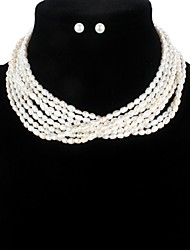 cheap -Freshwater Pearl Jewelry Set Pearl For Women's Oval Shape Elegant Simple Style Fashion Party Event / Party High Quality Modern Style Blessed 1 set