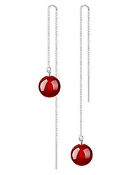 cheap -Women's Drop Earrings Long Romantic Earrings Jewelry Black / Red For Wedding Daily 1 Pair