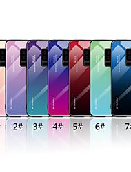 Недорогие -Кейс для Назначение SSamsung Galaxy S9 / S9 Plus / S8 Plus Зеркальная поверхность / С узором Кейс на заднюю панель Градиент цвета Твердый Закаленное стекло