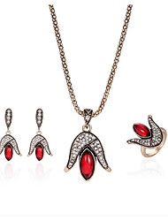 abordables -Femme Rouge Rubis synthétique Nuptiales Parures Classique dames Mode Des boucles d'oreilles Bijoux Rouge Pour Soirée 1 set / Boucles d'Oreilles