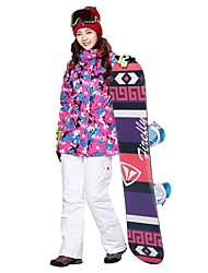 cheap -MARSNOW® Women's Ski Jacket with Pants Snowboarding Winter Sports Windproof Warm Breathability POLY Clothing Suit Ski Wear