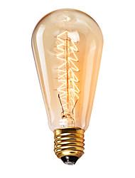 cheap -1pc 60 W E26 / E27 / E27 ST64 2300 k Incandescent Vintage Edison Light Bulb 220 V / 220-240 V