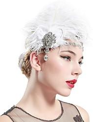 cheap -The Great Gatsby Charleston Vintage 1920s The Great Gatsby Headpiece Flapper Headband Women's Tassel Costume Head Jewelry White Vintage Cosplay / Headwear / Headwear