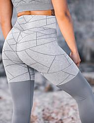 abordables -Femme Taille Haute Mosaïque Pantalon de yoga Couleur unie Maille Zumba Fitness Entraînement de gym Collants Tenues de Sport Butt Lift Contrôle du Ventre Power Flex Haute élasticité Mince