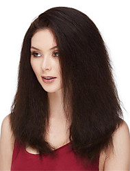 cheap -Virgin Human Hair Remy Human Hair Full Lace Wig Layered Haircut Middle Part Side Part style Brazilian Hair kinky Straight Deep Curly Natural Wig 130% Density Soft Natural Natural Hairline African