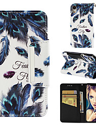 cheap -Case For Apple iPhone XR Wallet / Card Holder / Flip Full Body Cases Feathers Hard PU Leather