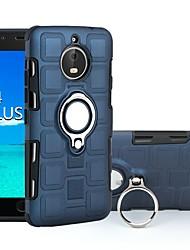 Недорогие -Кейс для Назначение Motorola Moto E4 Plus / Moto E4 Защита от удара / Кольца-держатели Кейс на заднюю панель броня Твердый ПК