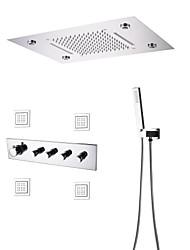 cheap -Shower Faucet - Contemporary Chrome Shower System Ceramic Valve Bath Shower Mixer Taps / Brass